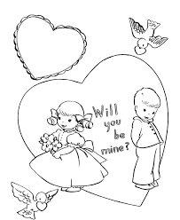 coloring valentines pages sweet heart valentine coloring page