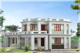 tag for www kerala home design flat roof double stories house
