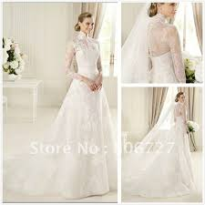 wedding dress high neck sleeve high neck wedding dress