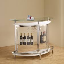 coaster cst101066 home bar unit modern style white high gloss