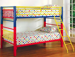 Bunk Bed Used Bedroom Design Traditional Painted Bedding Boy With Colorful