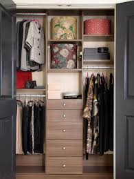 interior good closet organizer ideas with dark gray door plus