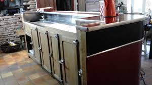 mobilier de bistrot comptoir de bar vintage année 50 60 ameublement charente maritime
