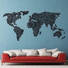 Mandala World Map Vinyl Decal Wall Decal – Dee cal Frenzy Wall Decor