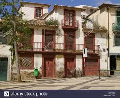 Painted Houses Red Painted Houses Praca Do Carmo Funchal Madeira Portugal Eu