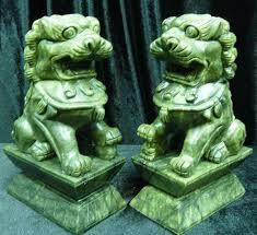 green foo dogs foo dog statue jade hj023