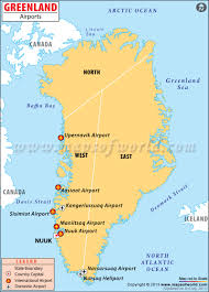 Map Showing New York by Airports In Greenland Greenland Airports Map