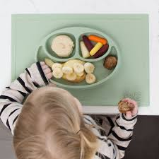 plates that stick to table ezpz the original all in one silicone plates placemats