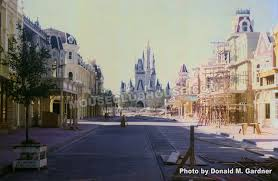 construction of main street in the magic kingdom in walt disney