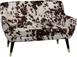 Faux Cowhide Chair Faux Cowhide Sofa Brown And White Dalmatian Patterm Sofas