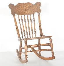Mission Oak Rocking Chair Vintage Pressed