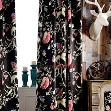 Velvet Blackout Thermal Curtains Insulated And Thermal Jacquard Floral Pattern Velvet Fabric