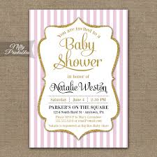 pink and gold baby shower invitations pink and gold baby shower invites pink gold ba girl shower