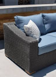 Outdoor Wicker Chair With Ottoman New Boston 6 Piece Patio Set Sofa 2 Lounge Chairs 2 Ottomans
