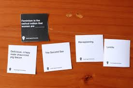 feminist cards against humanity rayner