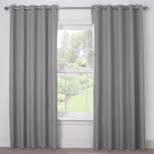 Grey And Silver Curtains Silver Grey Luxury Thermal Blackout Eyelet Curtains Pair