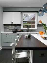 kitchen dark brown kitchen cabinets red tile floor wall kitchen
