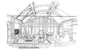 sketches studio bel air new construction great room pencil sketch