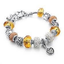 silver beaded charm bracelet images Murano glass beads crystal 925 silver charm bracelets fun jpg