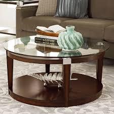 hammary solitaire round cocktail table rich dark brown hayneedle