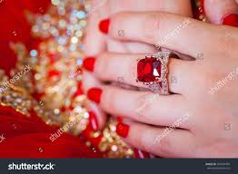 beautiful hand rings images Beautiful gold ring large ruby wearing stock photo edit now jpg