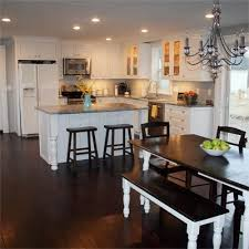 open kitchen layout ideas l shaped kitchen layout with an arched overhang on the island