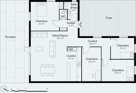 maison 3 chambres plan maison plain pied 3 chambres 110m2 frais plan maison 3 chambres