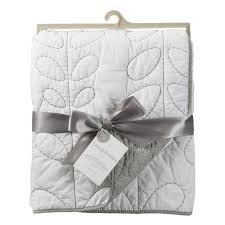 Grey Quilted Comforter Grey And White Quilted Crib Comforter By Lolli Living