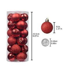 ornament decoration tree balls 1 57in 40mm 24 count