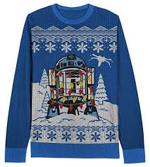 wars decorated r2d2 sweater for