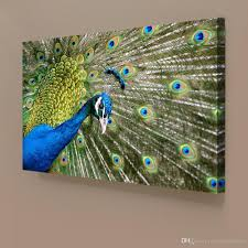2017 peacock animal giclee print canvas wall art for home decor