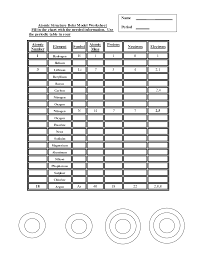 13 best images of bohr model worksheet answers atomic structure
