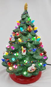 Vintage Atlantic Mold Ceramic Christmas Tree by Ceramic Light Up Christmas Tree Vintage Bulbs For Ceramic Light