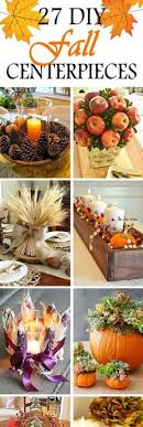 simple fall table centerpiece decoration using inexpensive candle
