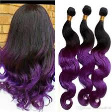 purple hair extensions purple ombre hair extension human hair weave braiding