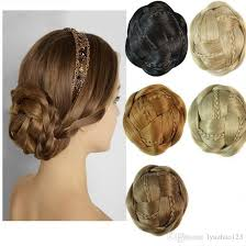hair pieces for women women braids chignon braided bun hair bride chignon hair bun clip