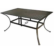 60 Inch Rectangular Dining Table Amazon Com Panama Jack Outdoor Island Breeze Slatted Aluminum