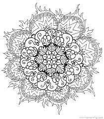 Complex Flower Coloring Pages Free Complex Flower Coloring Pages Mandala Flowers Coloring Pages