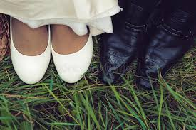 wedding shoes for grass wedding shoes of and groom in green grass stock photo