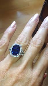 diamond rings sapphire images Sapphire engagement ring 13x9mm long cushion cut blue sapphire jpg