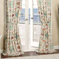 Bohemian Drapes Interior Bohemian Curtains Mixed With Two Glass Doors In White
