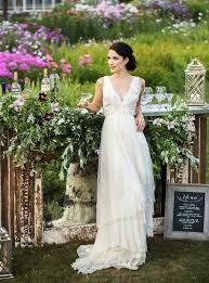 Green Wedding Dresses Romantic Wedding Inspiration On A Flower Farm Green Wedding