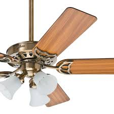 Brass Ceiling Fans With Lights by Hunter 52 Inch Antique Brass Ceiling Fan With Light Kit â