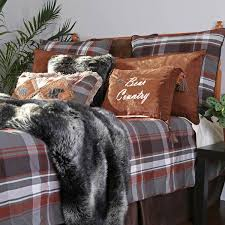 Twin Plaid Comforter Shop Carstens Grand Teton Plaid Bed Linens The Home Decorating