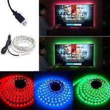 replacing led lights in tv 1m usb powered rgb colour change led strip computer tv usb backlight