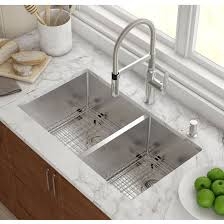 stainless steel double bowl undermount sink brilliant kraus undermount 60 40 double bowl 16 gauge stainless