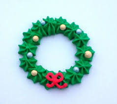 edible royal icing christmas wreaths cupcake toppers handmade x