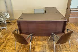 Hon Adjustable Height Desk by Hon Cherry Laminate L Desks U2022 Peartree Office Furniture