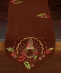 gorgeous brown table runner embroidered turkey 14 x 70