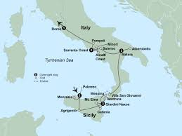 Map Of Pompeii Italy by Southern Italy U0026 Sicily Clubmaster Travel